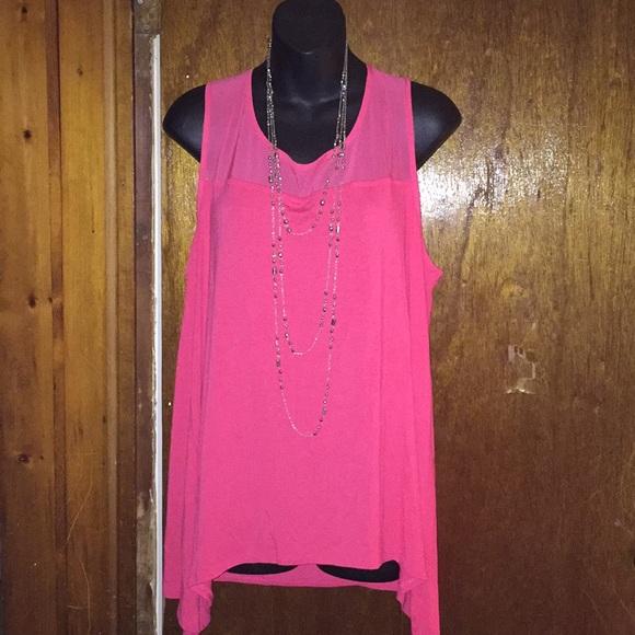 Dana Buchman Tops - Dana Buchanan size xl women's pink rose top